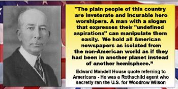 Mandell House - on newspapers