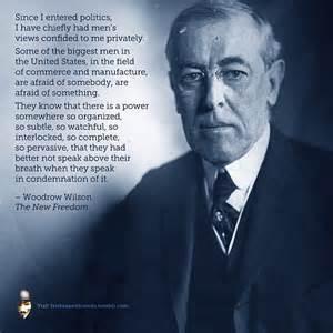 Woodrow Wilson - on cabal