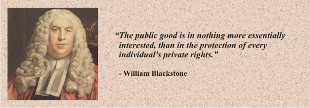 WILLIAM BLACKSTONE - public good