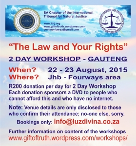2015 ITNJ Gauteng Workshop Flyer