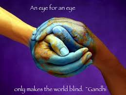 Ghandi an eye for an eye