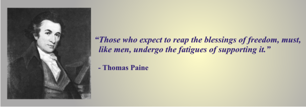 THOMAS PAINE - on supporting freedom