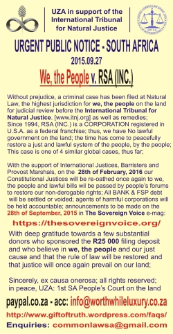 2015.09.27 Public Notice Southern Africa