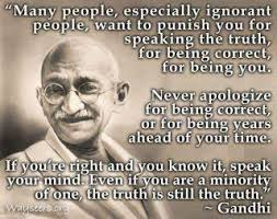 Gandhi ignorant people