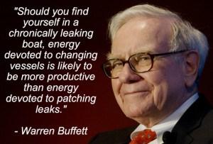 Warren buffet Leaking boat