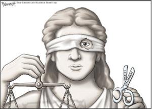 justice law half blind