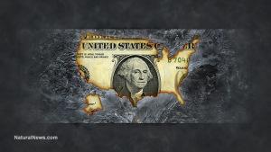 Burned Dollar-US-Economy