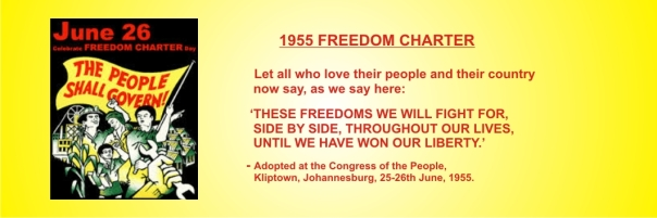 FREEDOM CHARTER - These freedoms