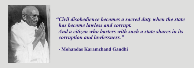 GANDHI - civil disobedience