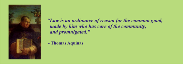 THOMAS AQUINAS - law is