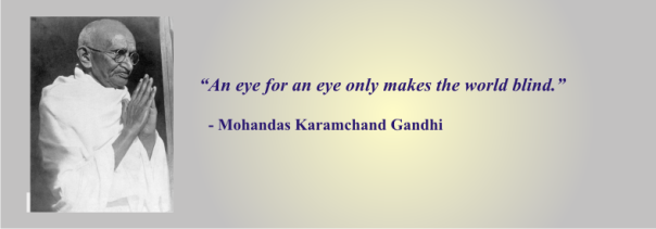 GANDHI - an eye for an eye