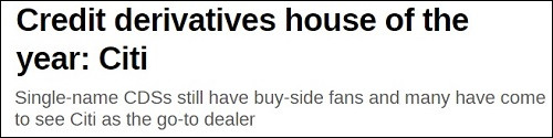 Citigroup Headline at Risk Magazine Web Site, January 27, 2016