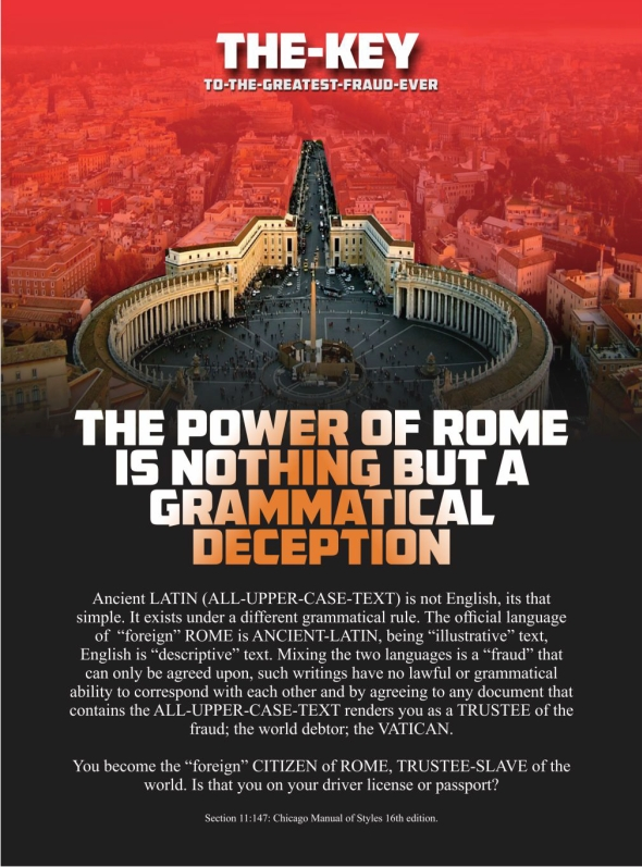 THE POWER OF ROME IS NOTHING BUT A GRAMMATICAL DECEPTION